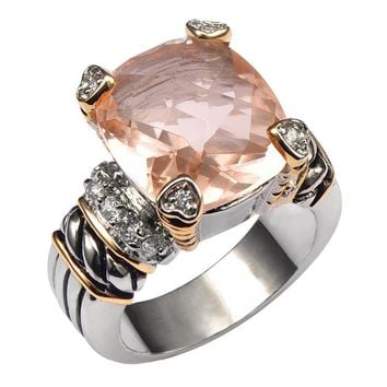 Morganite Quality Ring - 925 Sterling Silver (men/Women)