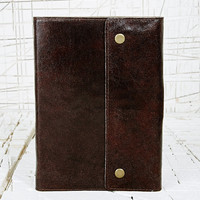 Oh Snap Leather Notebook in Brown - Urban Outfitters