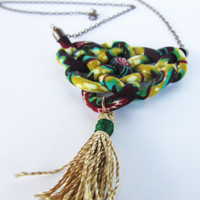 tassel necklace/ long necklace/ sailors knot