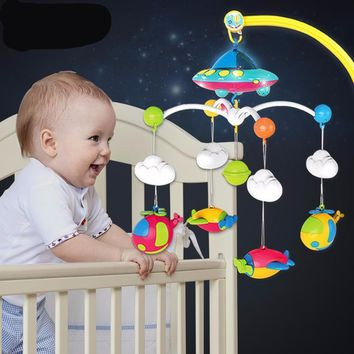 Baby Crib Bell Toy Rotating Music Hanging