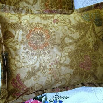 VENETIAN COURT Pair Custom Made Boudoir Accent Pillow Shams - Ralph Lauren Fabric Sate