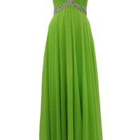 Dressystar Women's Long Sweetheart Keyhole Prom Bridesmaid Dress Beaded Top