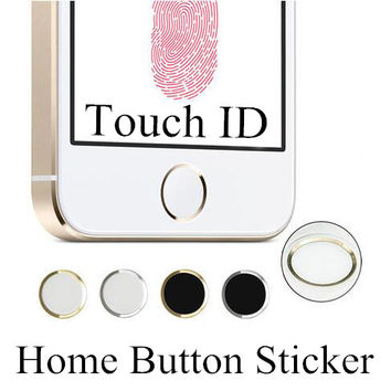 Latest Colorful Home Button Sticker Aluminium Metal Round For iPhone 5S 6 6s Plus 7 7Plus Supporting Touch ID
