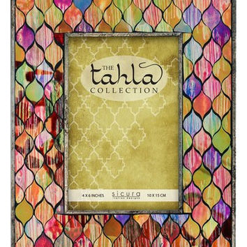 'Tahla' Mosaic Stained Glass Picture Frame (4x6)