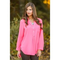 Penny For Your Thoughts Blouse-Bubblegum