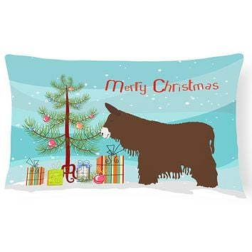 Poitou Poiteuin Donkey Christmas Canvas Fabric Decorative Pillow BB9219PW1216