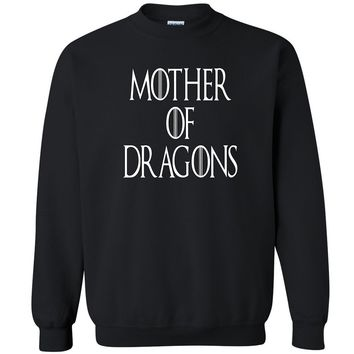 "Zexpa Apparelâ""¢ Mother Of Dragons Khaleesi Unisex Crewneck GOT Fan Design Show  Sweatshirt"