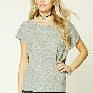 Boxy Marled Knit Top