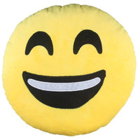 New Emoji Pillow Smiley Emoticon Round Cushion  Cotton