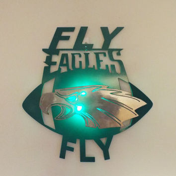 Philadelphia Eagles 2D wall art with led light, metal sign, custom