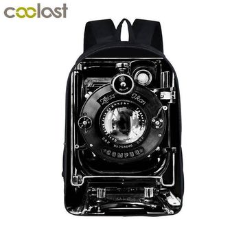 Cool Backpack school Cool Camera Backpack For Teenage Boys 3D Camere Print Book Bag Children Adolescent School Bags Backpack Teen Laptop Backpack AT_52_3