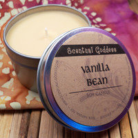 VANILLA BEAN CANDLE - Smooth Creamy Vanilla Scented Soy Candle