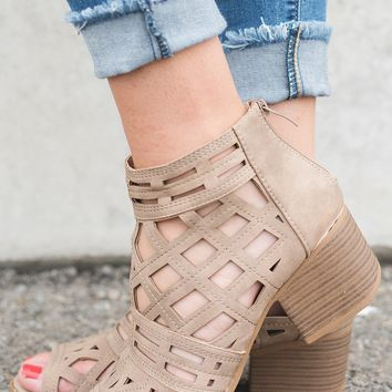 Toby Cutout Booties (Stone)