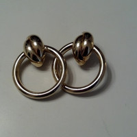 Vintage Gold Marilyn Monroe Earrings by TheCollinsCollection
