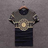 GUCCI Women Man Fashion Print Sport Shirt Top Tee I