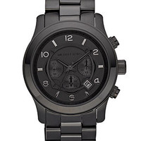 Michael Kors Watch, Men's Runway Black Ion Plated Stainless Steel Bracelet 45mm MK8157 - Men's Watches - Jewelry & Watches - Macy's
