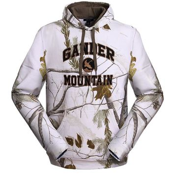 Autumn and winter hooded pullover sweatshirt cotton plus thick velvet bionic camouflage hunting clothing sweater realtree 5 mode