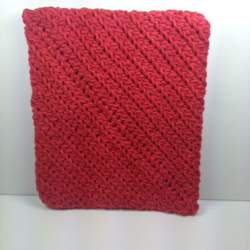 Ole Red Hand Crocheted Cotton Potholder, Hot pad, Pot Holder, Cotton Baking Pad, Cotton Cooking Pad