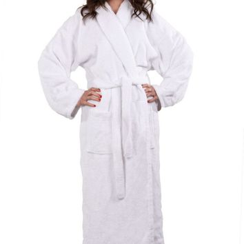100% Turkish Cotton Adult Terry Shawl Robe