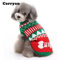 Christmas Sweater for Dog Latest Fashion Snowflakes Deer Print Warm Dog Clothes for Dogs Plus Size S-2XL Cute Dog Sweaters