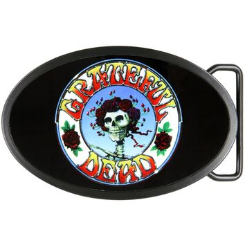 Grateful Dead - Skull And Roses Oval Belt Buckle