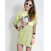 80s When Minnie Meets Mickey Oversized Tshirt - T Shirt Vintage - Minnie Mouse - Pastel Grunge Goth - Soft Grunge Y2K Cyber Shirt Dress 90s