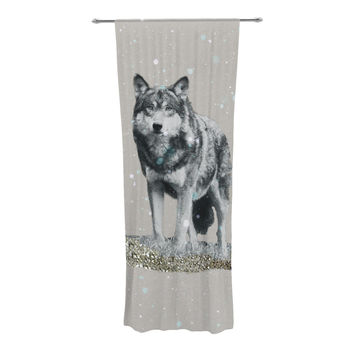 "Monika Strigel ""Wolf"" Decorative Sheer Curtain"