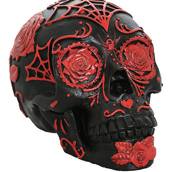 Day Of The Dead Tattoo Sugar Skull Head Display | Hot Topic