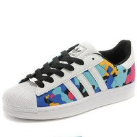 """Adidas"" Fashion Shell-toe Flats Sneakers Sport Shoes Print Colorful camouflage"