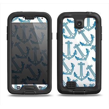 The Blue Anchor Stitched Pattern Samsung Galaxy S4 LifeProof Fre Case Skin Set