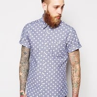 ASOS Shirt In Short Sleeve With Polka Dots