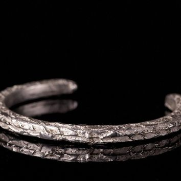 Open Bangle Sterling Silver Bracelet