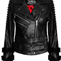 Buckled Leather Jacket [B]