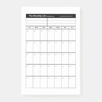 Monthly Life Planner Post-it Notes