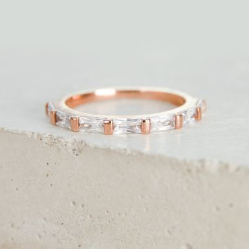 Baguette Eternity Band - Rose Gold