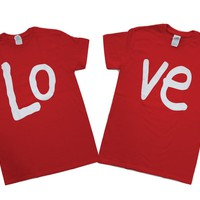 LOVE Couple Tshirt Matching Couple Tees