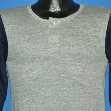 70s Henley Heathered Deadstock 3/4 Sleeve t-shirt Small