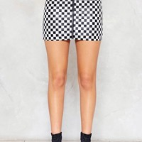 A Night on the Tiles Checkerboard Skirt