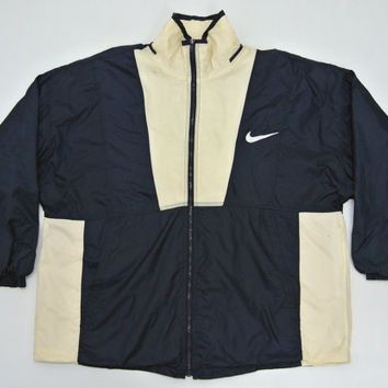 Nike Windbreaker Mens XLG 2XLG Vintage 90s Nike Jacket Vintage Nike Windbreaker Nike Nylon Jacket Nike Big Logo Windbreaker Nike Big Size XL