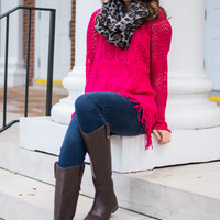 Like To Dream Sweater, Hot Pink