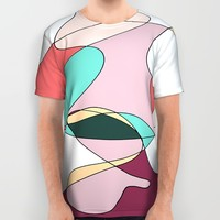 Abstract 1 (white) All Over Print Shirt by DuckyB (Brandi)