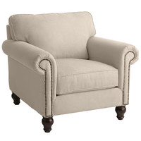 Alton Ecru Rolled Armchair