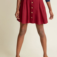 You Sassy Thing Skater Skirt in Maroon in 1X
