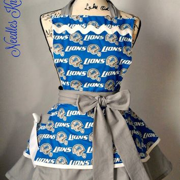 Detroit Lions Womens Apron, Womens Aprons, Football, Game Day