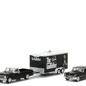 1972 Chevrolet C-10 1955 Cadillac Fleetwood 60 Special Godfather 1:64