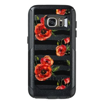 Chic Red Poppy Flowers OtterBox Samsung Galaxy S7 Case
