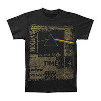 Pink Floyd Men's  Dark Side Headlines T-shirt Black Rockabilia