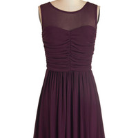 Jack by BB Dakota Mid-length Sleeveless A-line Night and Sway Dress in Plum