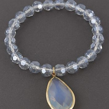 Crystal Quartz Stretch Bracelet