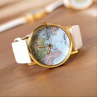Map of Vintage Watches - travel new female girlfriends gifts